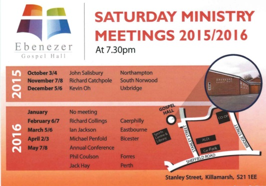Ministry meetings 2015/16